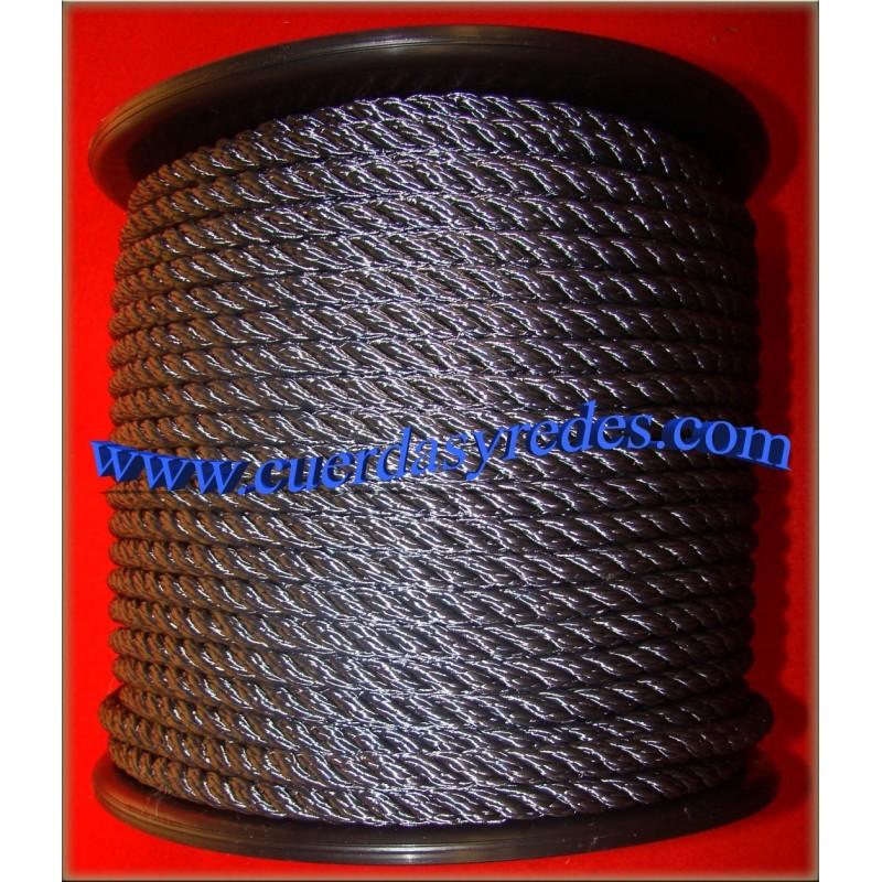 Cuerda 8 mm. Negra
