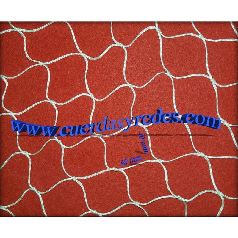 Red proteccion Tenis, Padel, malla 40 mm. al cuadro.