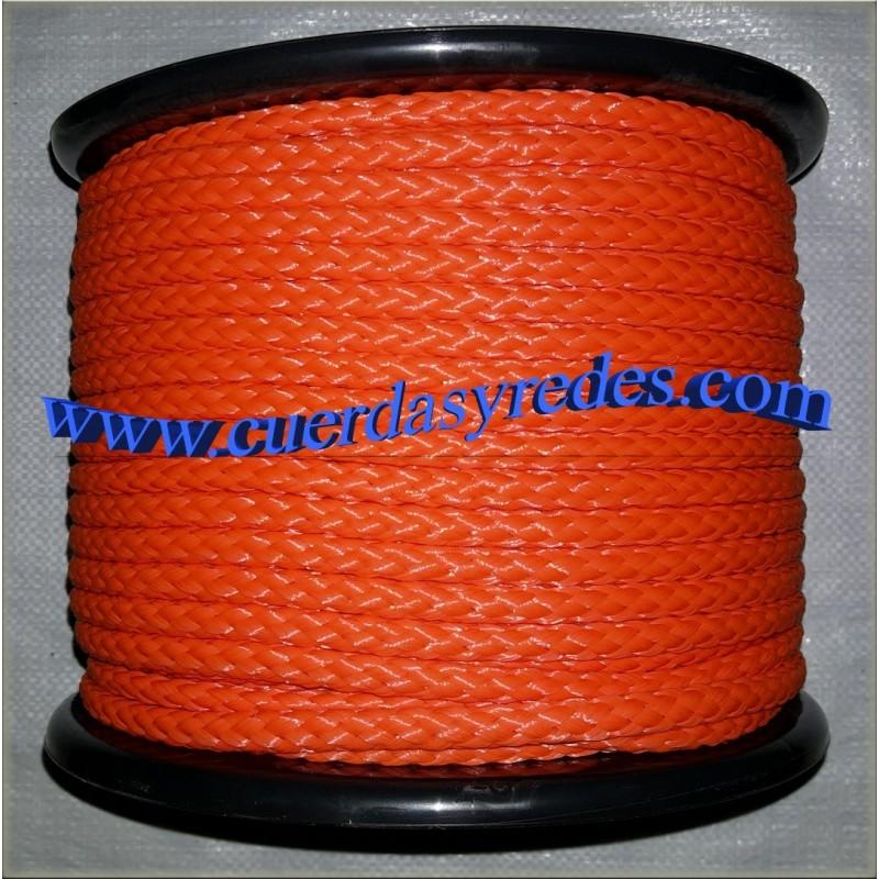 Cordon trenz.10 mm.100 mts. Naranja