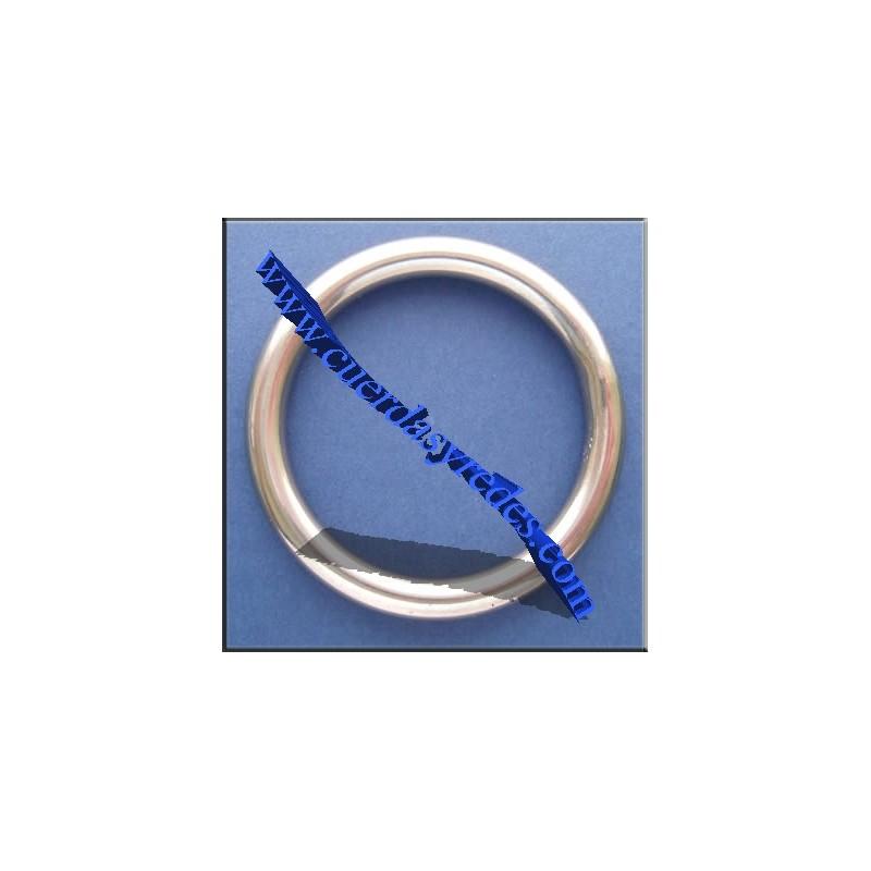Anilla inox.6 mm.60 mm.diametro