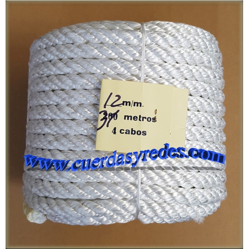 Cuerda 12 mm.31 mts. Nylon Media tenacidad