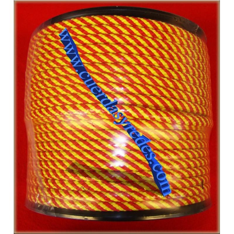 Cordon trenz.14 mm.1 metro Rojo-Amarillo