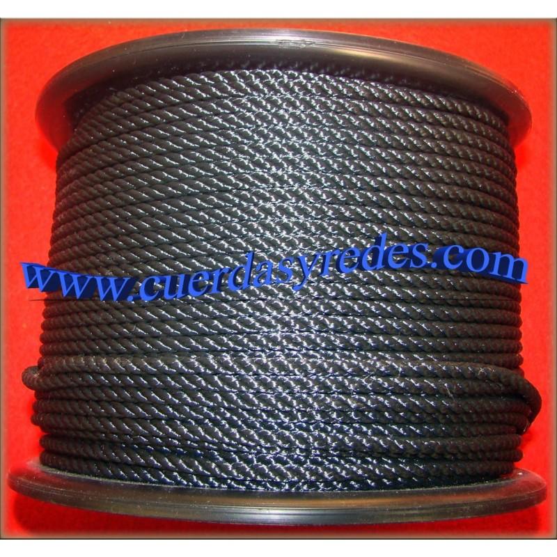 Cuerda 6 mm. Negra