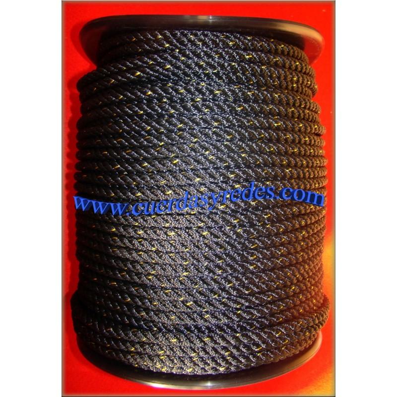 Cuerda 14 mm.100 mts. Negra-Dist.Amar.