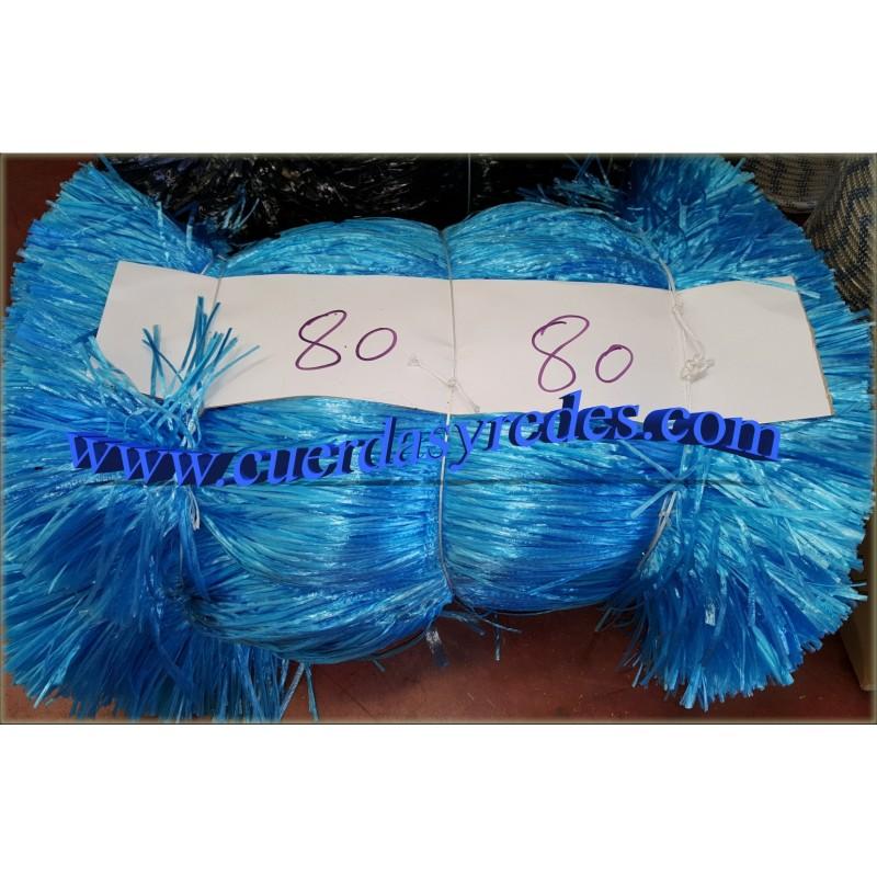 Rafia Plana Fibrilada 0'80 cms. Azul