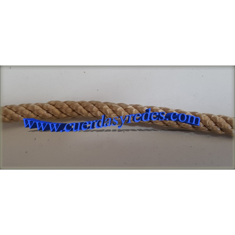 Cuerda 6 mm.100 mts. Beig (Oro)