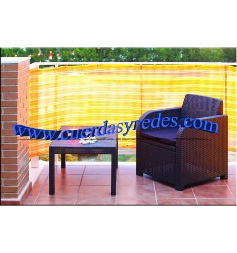 Malla para balcones color, naranja 0'9x5 mts.