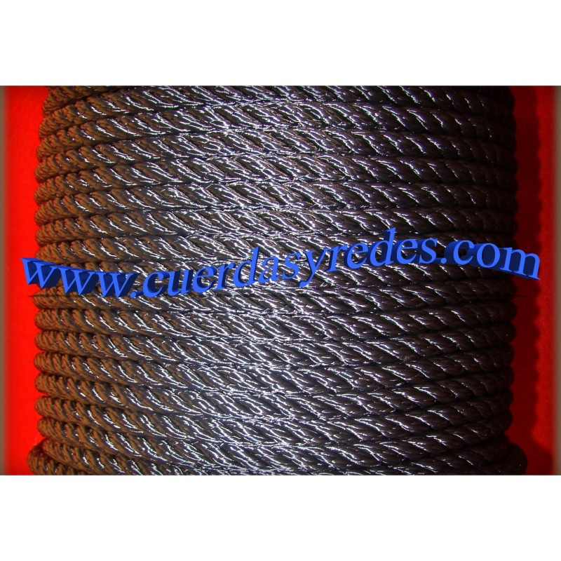 Cuerda 8 mm.100 mts. Negra