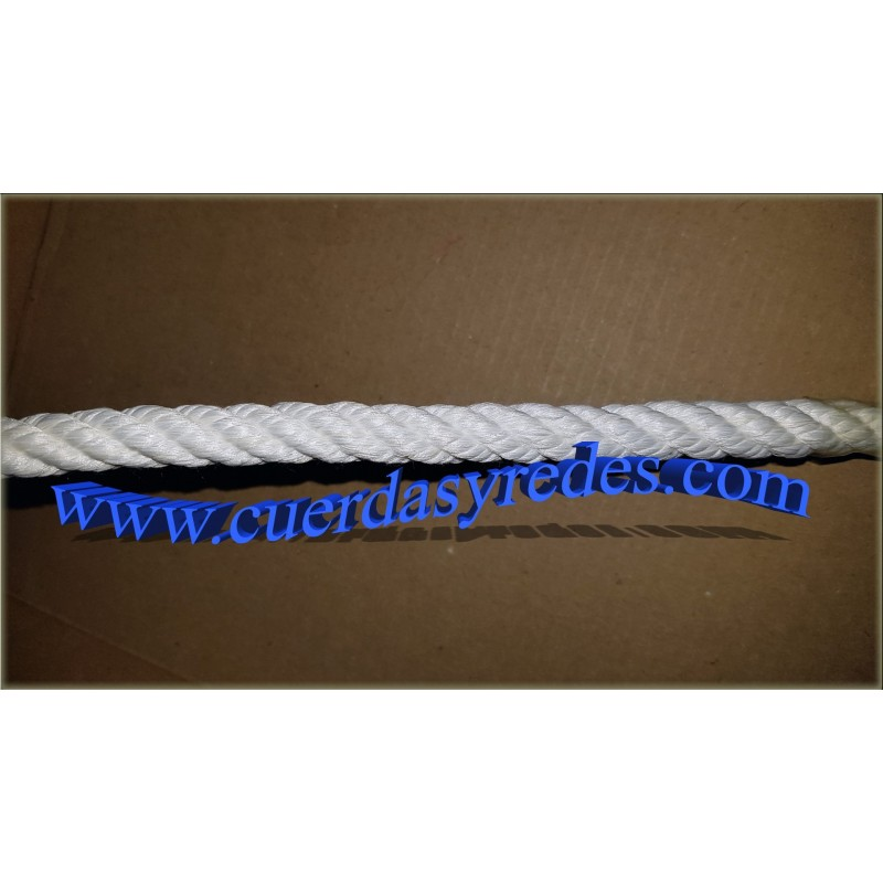 Cuerda 10 mm.10 mts. nylon mate