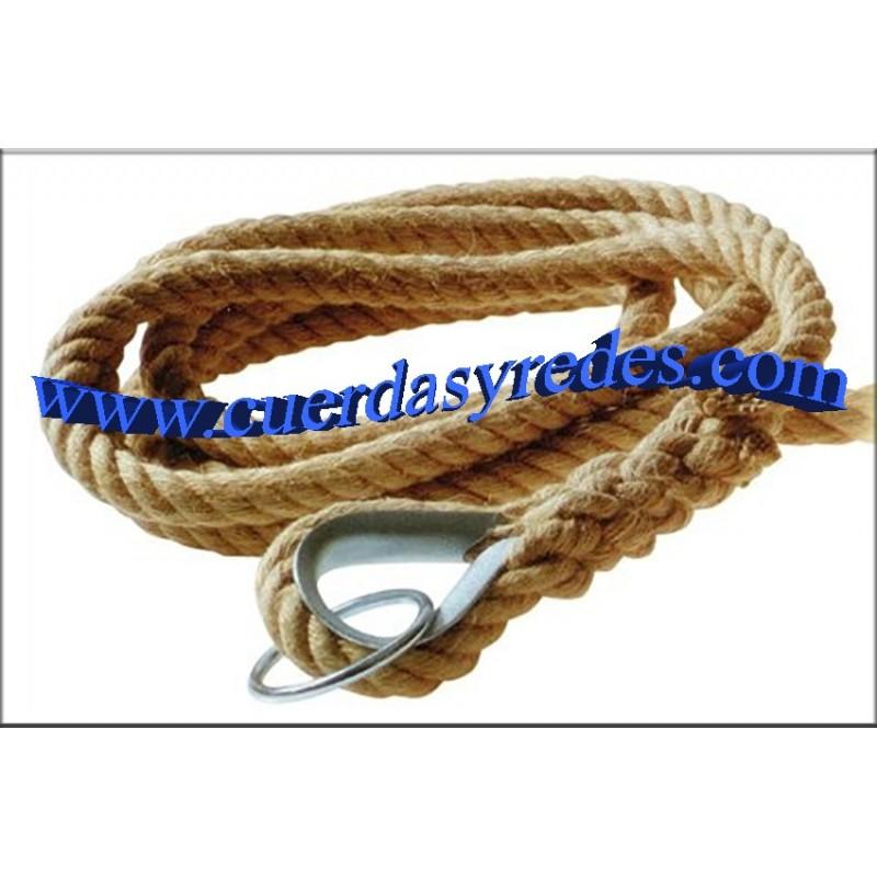 Cuerda 30 mm.con gaza, guardacabos y anilla