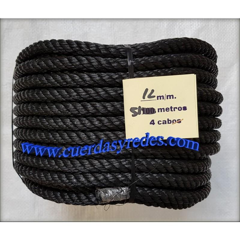 Cuerda 12 mm.51 mts. negra