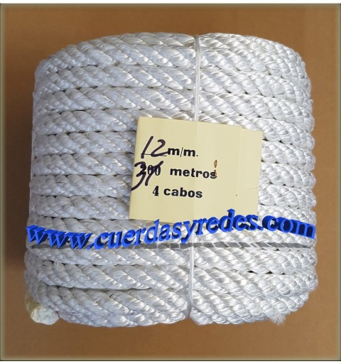 Cuerda 12 mm.31 mts. Nylon Media tenacidad