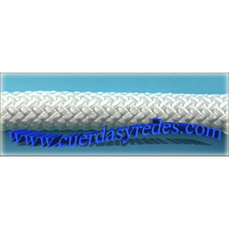 Cordon trenz.10 mm.1 metro nylon 6 blanco