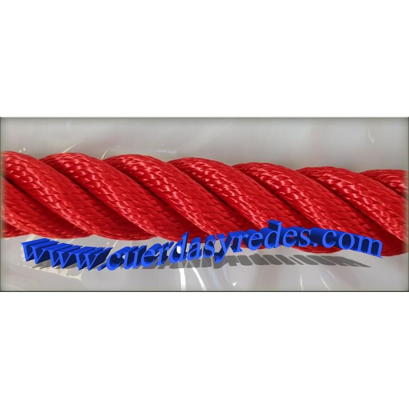 Cuerda 30 mm.1 mts. Roja