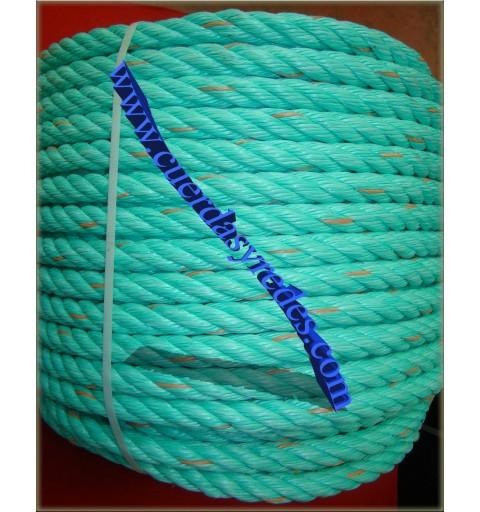 Cuerda 16 mm.50 mts. polysteel verde