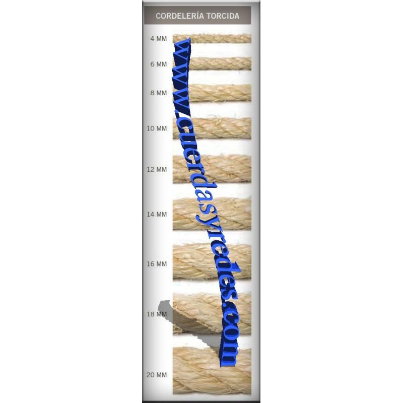 Cuerda 10 mm.15 mts. sisal