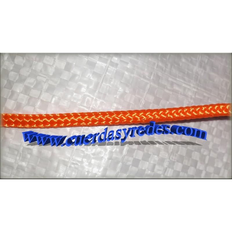 Cordon trenz.4 mm.200 mts. Naranja Fluor
