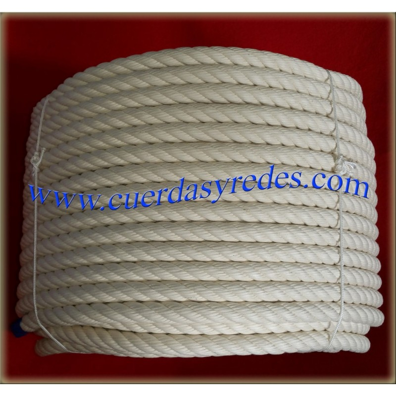 Cuerda torcida 18 mm.100 mts. Crudo