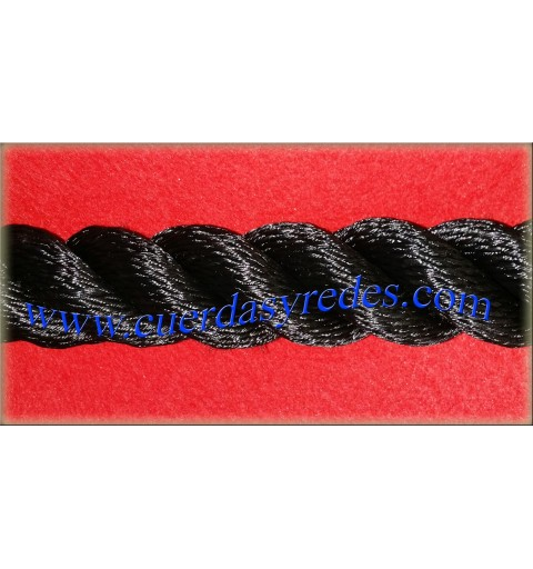 Cuerda alta tenacidad 38 mm.Negra