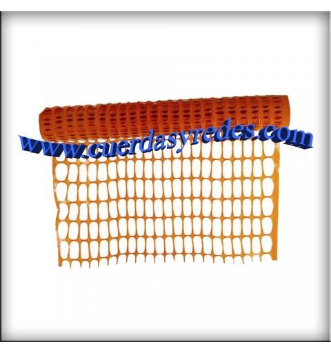 Malla Señalización Naranja, 1x50 mts.